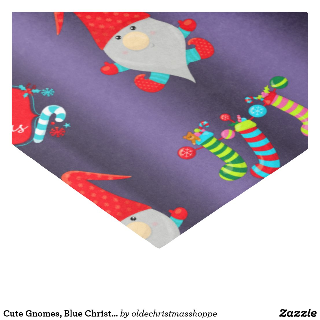 Cute Gnomes, Blue Christmas Tissue Paper