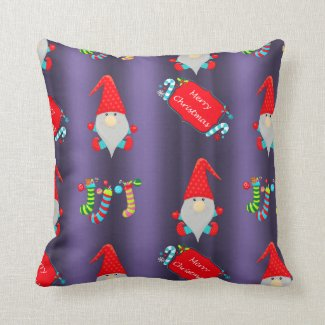 Cute Gnomes Christmas Throw Pillow