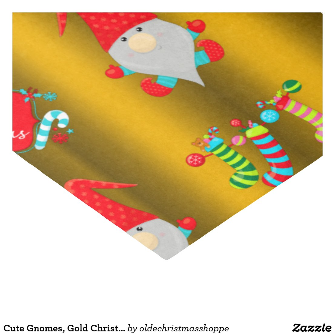 Cute Gnomes, Gold Christmas Tissue Paper