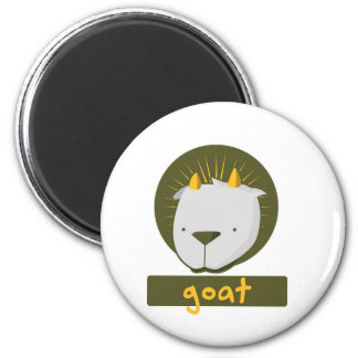 cute goat 2 inch round magnet