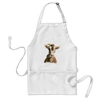 Cute Goat, Animal, Farm Pet Adult Apron