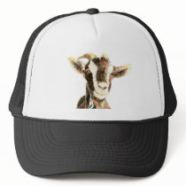 Cute Goat, Animal, Farm Pet Trucker Hat
