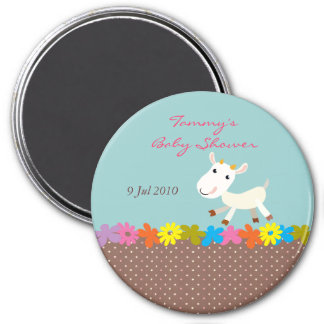 Cute Goat Baby Shower Magnet - Customizable
