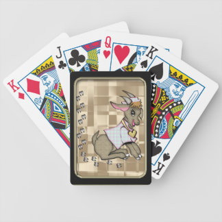 Cute Goat Black Frame Bicycle® Playing Cards