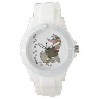 Cute Goat in  Jacket Wrist Watches