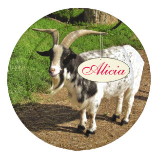 Cute Goat Kids Name Button Covers Pack Of Large Button Covers