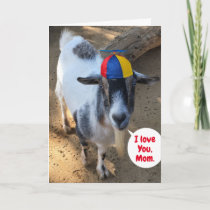 Cute Goat Photo Favorite Kid Mother's Day Card