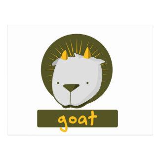 cute goat postcard
