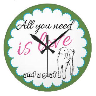 Cute Goat Saying Kitchen or Barn Clock
