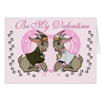 Cute Goat Valentine Card
