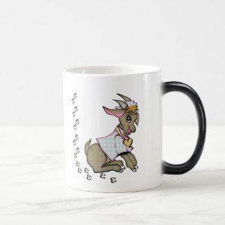 Cute Goat With HoofPrints Magic Mug