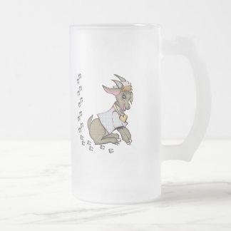 Cute Goat With HoofPrints Mugs