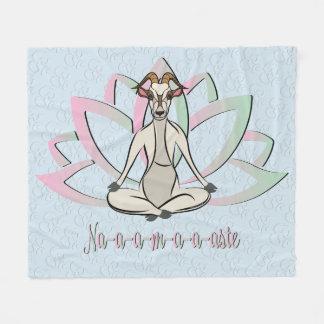 CUTE GOAT YOGA | Namaste GetYerGoat™ Fleece Blanket