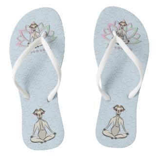 CUTE GOAT YOGA | Namaste GetYerGoat™ Flip Flops