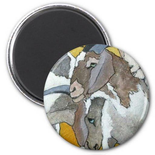 Cute Goats Cuddling Fridge Magnets
