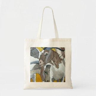 Cute Goats Cuddling Tote Bag