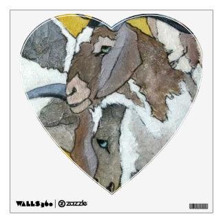 Cute Goats Cuddling Wall Sticker