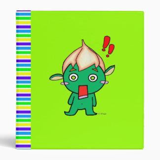 Cute goblin with a flower on his head binder