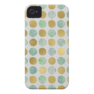 Cute Gold and color dots iPhone 4 Cover