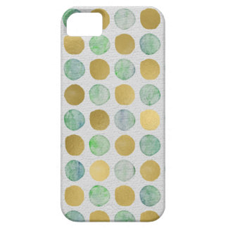 Cute Gold and color dots iPhone SE/5/5s Case