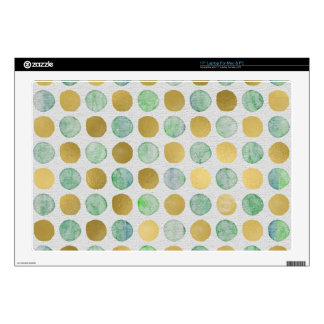 Cute Gold and color dots Laptop Decals