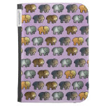 Cute Gold and Silver Elephants Kindle 3 Cover