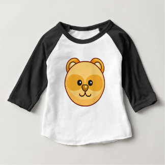 Cute Gold Bear Cartoon Black Customizable Baby Baby T-Shirt