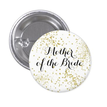 BrideStyle Cute Gold Glitter Mother of the Bride Button