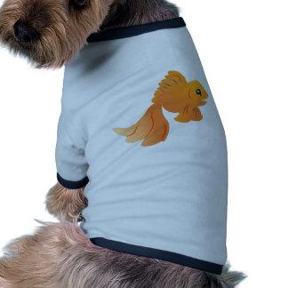 cute gold goldfish pet clothing