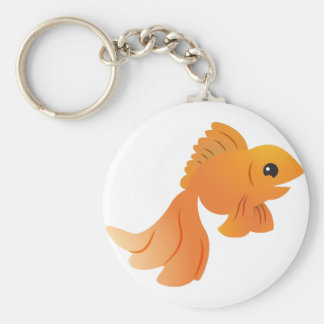 cute gold goldfish keychain