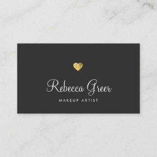 Consultant business cards templates zazzle cute gold heart black beauty consultant business card colourmoves