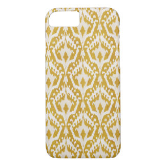 Cute gold ikat tribal patterns iPhone 7 case