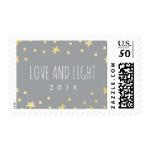 Cute Gold Stars Postage Stamp | Holiday, Hanukkah
