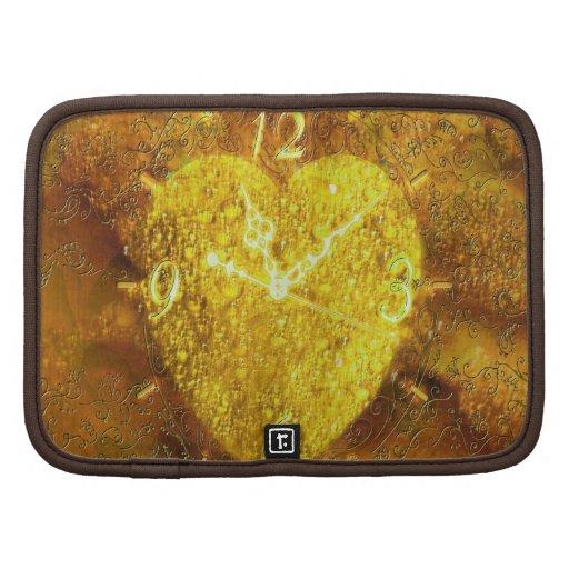 Cute Gold Valentine Heart Clock Organizers