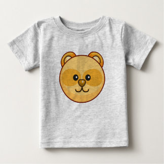 Cute Golden Bear Cartoon Grey Customizable Baby Baby T-Shirt