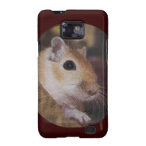 Cute Golden Furry Pet Gerbil Samsung Galaxy Case Galaxy S2 Cases  at Zazzle