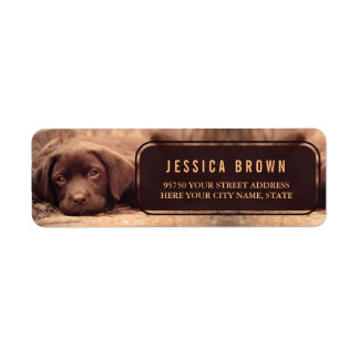 Cute Golden Labrador custom return address label