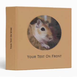 Cute Golden Pet Gerbil Vinyl Binder