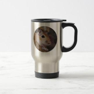 Cute Golden Pet Gerbil 15 Oz Stainless Steel Travel Mug