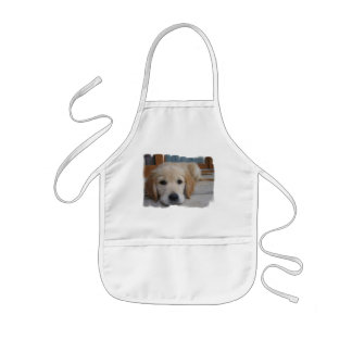 Cute Golden Pup Apron