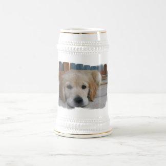 Cute Golden Pup Beer Stein Coffee Mugs