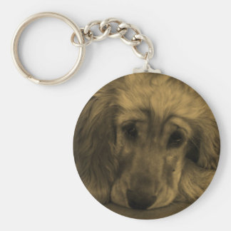 Cute Golden Retriever Dog Laying Down Keychains