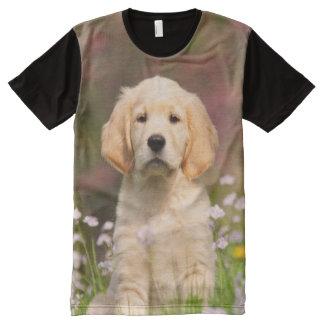 Cute Golden Retriever puppy All-Over-Print Shirt