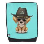 Cute Golden Retriever Puppy Dog Sheriff Backpack
