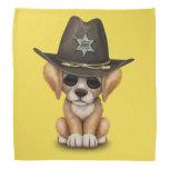 Cute Golden Retriever Puppy Dog Sheriff Bandana