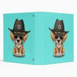 Cute Golden Retriever Puppy Dog Sheriff Binder