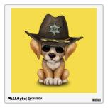 Cute Golden Retriever Puppy Dog Sheriff Wall Decal