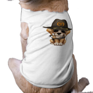 Cute Golden Retriever Puppy Zombie Hunter Shirt