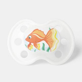 Cute goldfish im glass pacifier