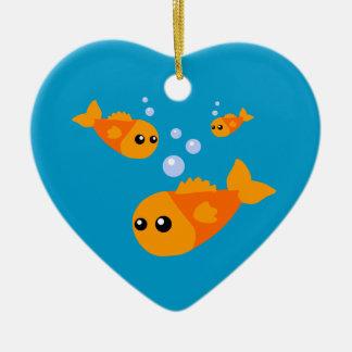 Cute Goldfish Christmas Tree Ornaments